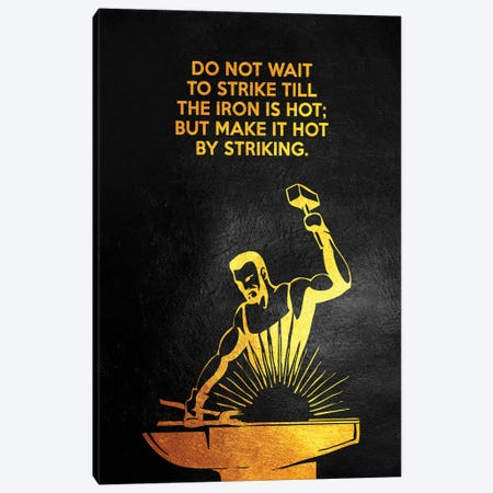 Strike The Iron Canvas Print #ABV928} by Adrian Baldovino Canvas Artwork