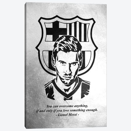 Lionel Messi Motivation Canvas Print #ABV929} by Adrian Baldovino Canvas Art