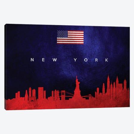 New York Skyline Canvas Print #ABV92} by Adrian Baldovino Canvas Art Print