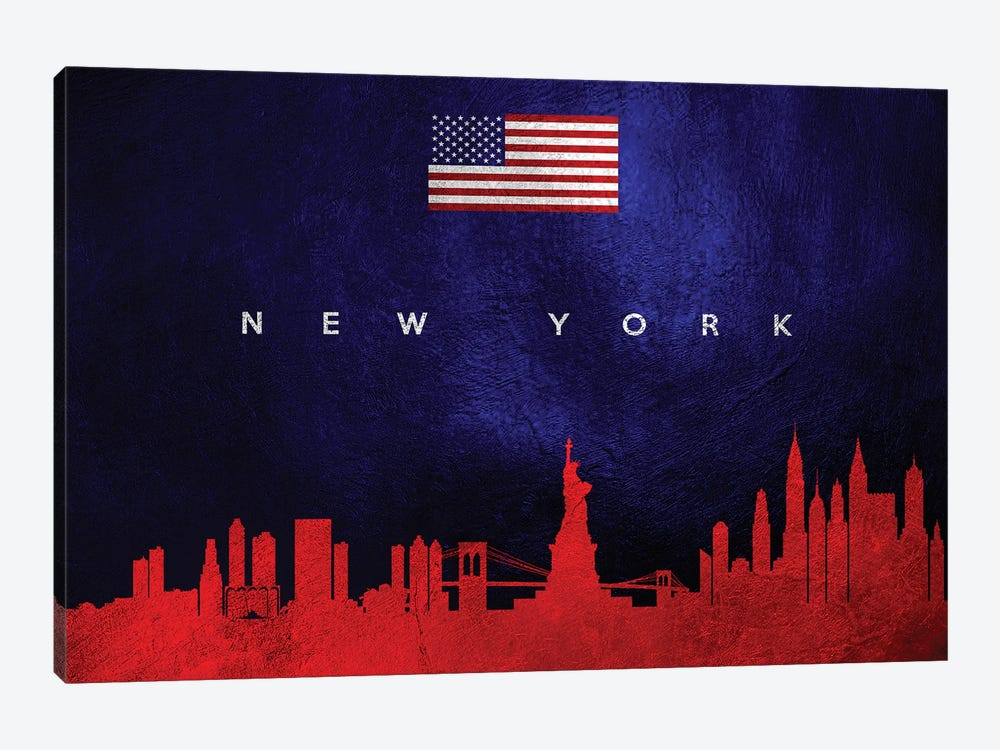 New York Skyline by Adrian Baldovino 1-piece Canvas Art