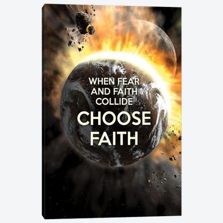Choose Faith Canvas Print #ABV932} by Adrian Baldovino Art Print