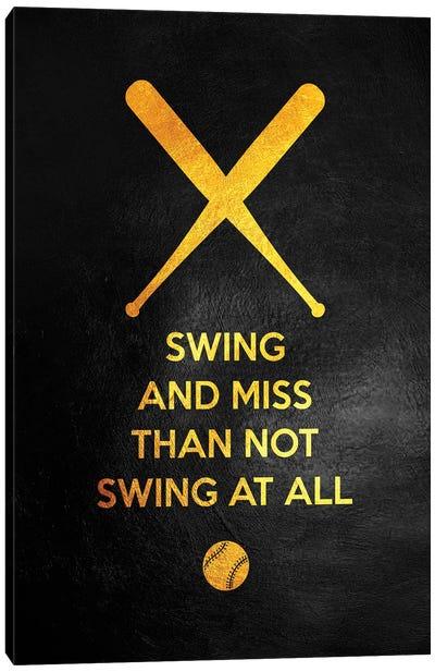 Just Swing It Canvas Art Print