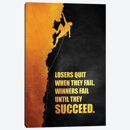 Fail Until You Succeed Canvas Print #ABV939} by Adrian Baldovino Canvas Art Print