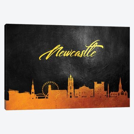 Newcastle England Gold Skyline Canvas Print #ABV93} by Adrian Baldovino Canvas Print