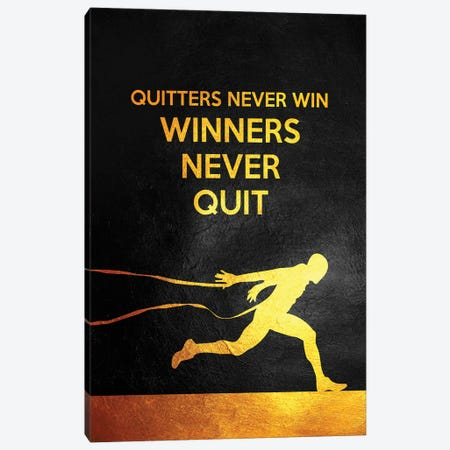 Winners Never Quit Canvas Print #ABV952} by Adrian Baldovino Canvas Print