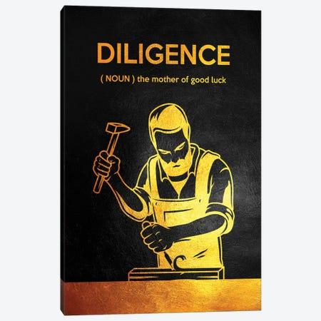 Diligence - Benjamin Franklin Canvas Print #ABV976} by Adrian Baldovino Canvas Wall Art