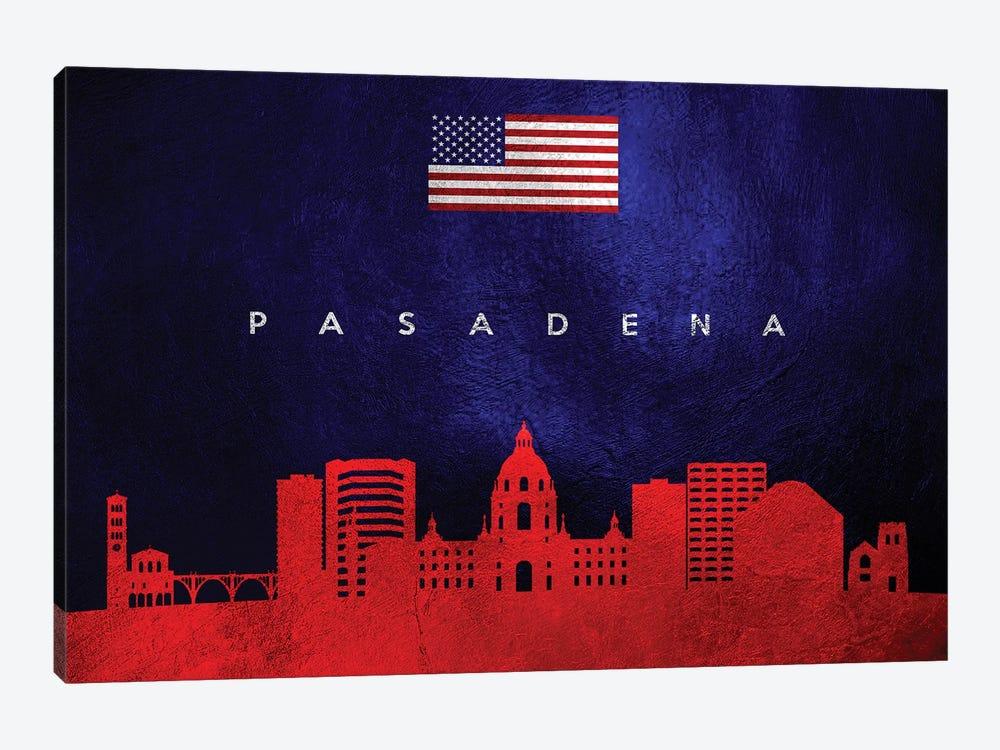 Pasadena California Skyline by Adrian Baldovino 1-piece Art Print