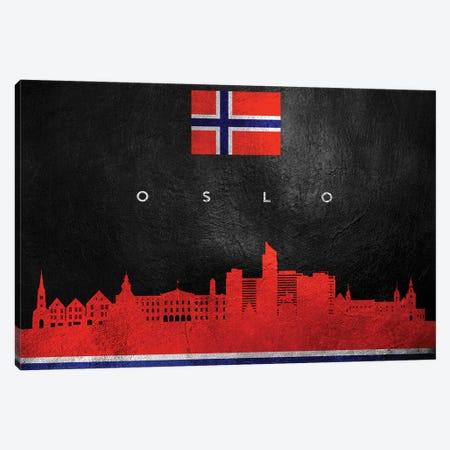 Oslo Norway Skyline Canvas Print #ABV98} by Adrian Baldovino Canvas Art Print