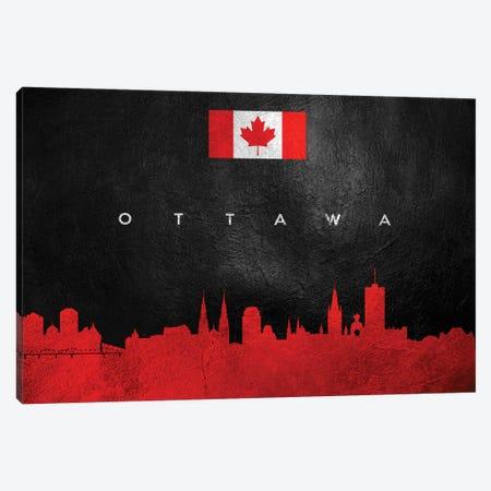 Ottawa Canada Skyline Canvas Print #ABV99} by Adrian Baldovino Art Print