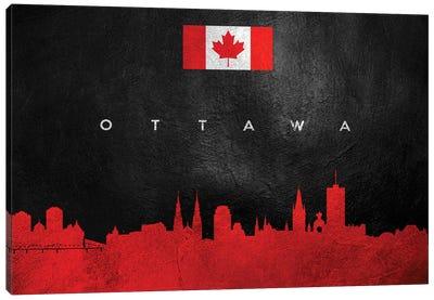 Ottawa Canada Skyline Canvas Art Print