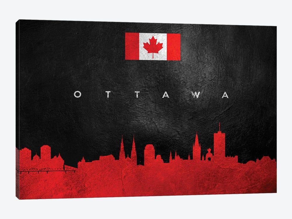 Ottawa Canada Skyline by Adrian Baldovino 1-piece Canvas Print