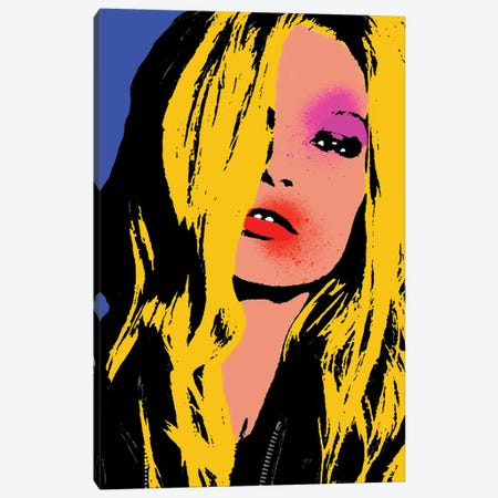 Kate Moss Pop Art Canvas Print #ABW11} by Andrew M Barlow Canvas Art