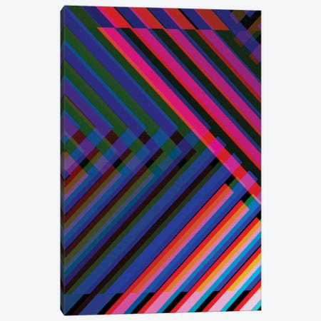 Neon Blur I Canvas Print #ABW18} by Andrew M Barlow Canvas Artwork