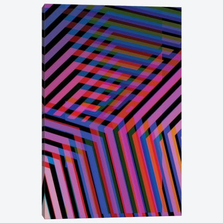 Neon Blur II Canvas Print #ABW19} by Andrew M Barlow Canvas Artwork