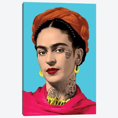 Tattooed Frida Canvas Print #ABW1} by Andrew M Barlow Canvas Art