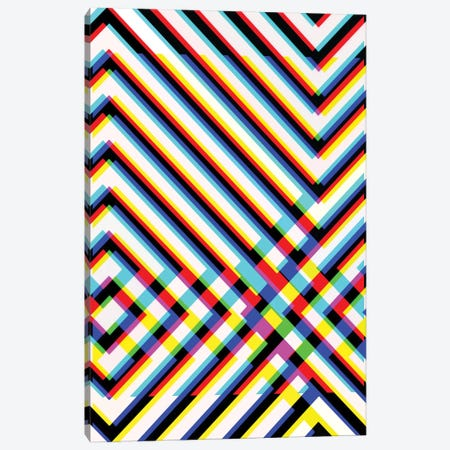 Black & White Blur II Canvas Print #ABW21} by Andrew M Barlow Art Print