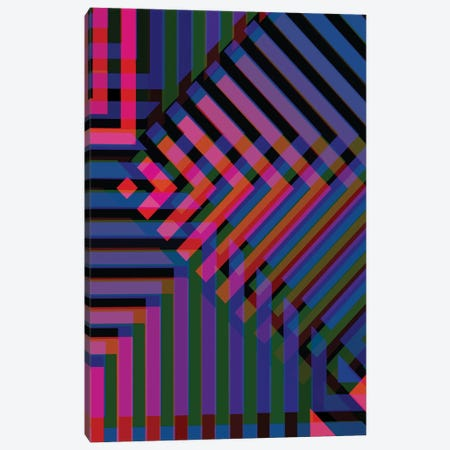 Neon Blur Canvas Print #ABW22} by Andrew M Barlow Canvas Print