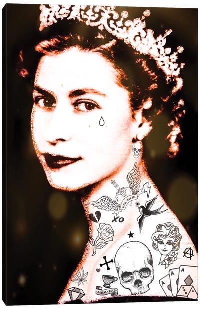 Lizzy Tattooed Canvas Art Print