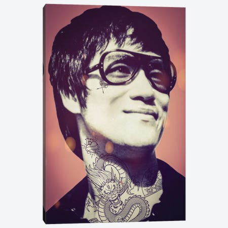Bruce Lee Tattooed Canvas Print #ABW28} by Andrew M Barlow Canvas Art Print