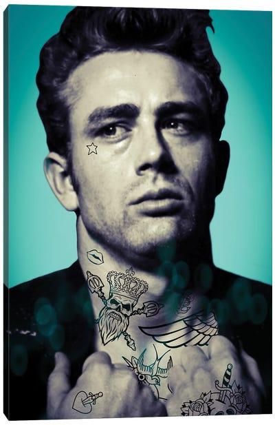James Dean Tattooed Canvas Art Print