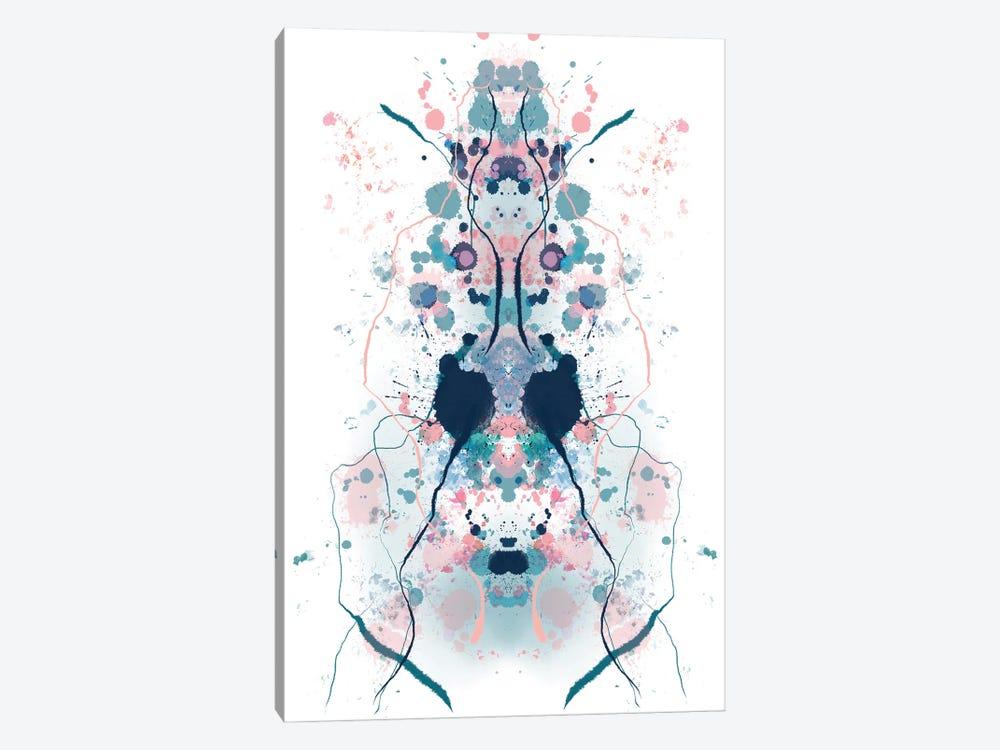 Ink Blot Aqua by Andrew M Barlow 1-piece Canvas Art