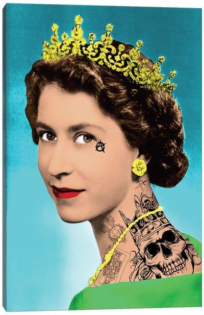 Tattooed Elizabeth Canvas Art Print