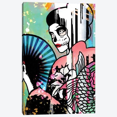 Candi Geisha Girl Canvas Print #ABW46} by Andrew M Barlow Canvas Art