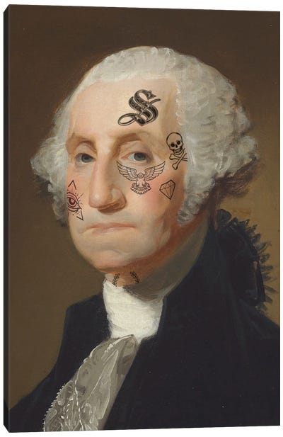 George Tattooed Canvas Art Print