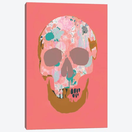 Splatter Skull Canvas Print #ABW55} by Andrew M Barlow Canvas Art Print