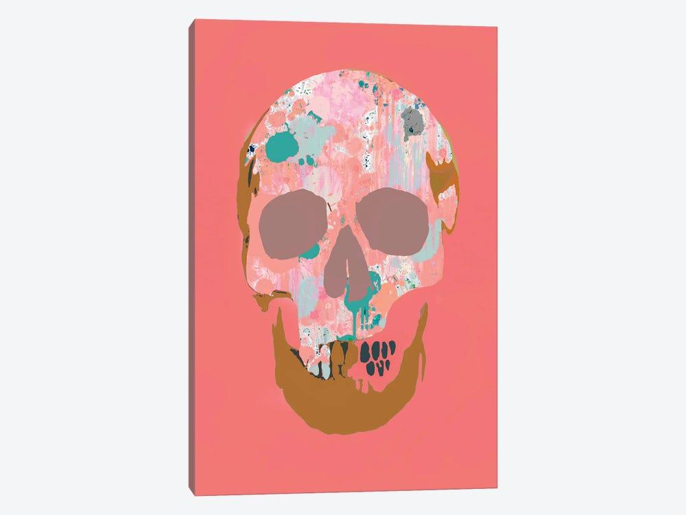 Splatter Skull by Andrew M Barlow 1-piece Canvas Artwork