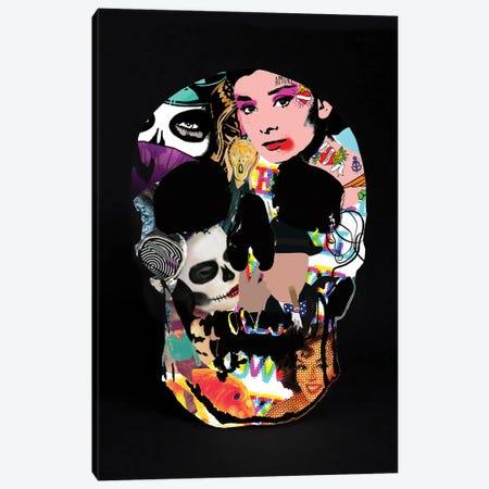 Graffiti Skull Canvas Print #ABW57} by Andrew M Barlow Canvas Art Print