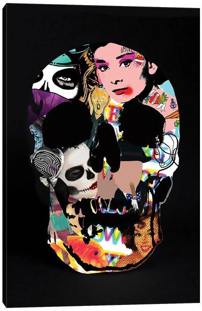 Graffiti Skull Canvas Art Print