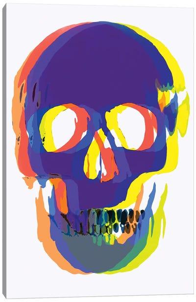 Blurred Blue Skull Canvas Art Print