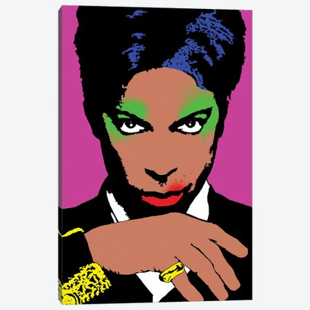 Prince Pop Art Canvas Print #ABW8} by Andrew M Barlow Canvas Wall Art