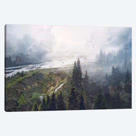 Foggy Forest Canvas Print #ACB12} by Artem Rhads Chebokha Canvas Wall Art
