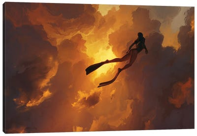Freedive Canvas Art Print