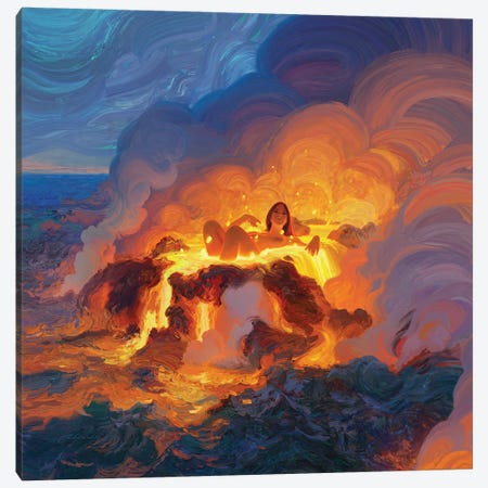Hot Bath Canvas Print #ACB15} by Artem Rhads Chebokha Canvas Art Print