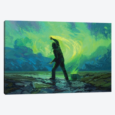 Late Night Painter Canvas Print #ACB19} by Artem Rhads Chebokha Canvas Wall Art