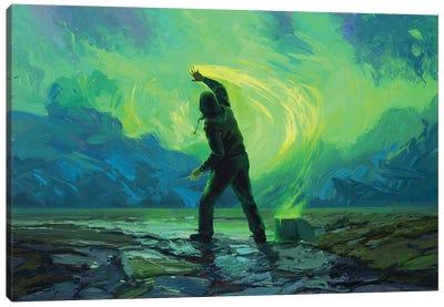 Late Night Painter Canvas Art Print