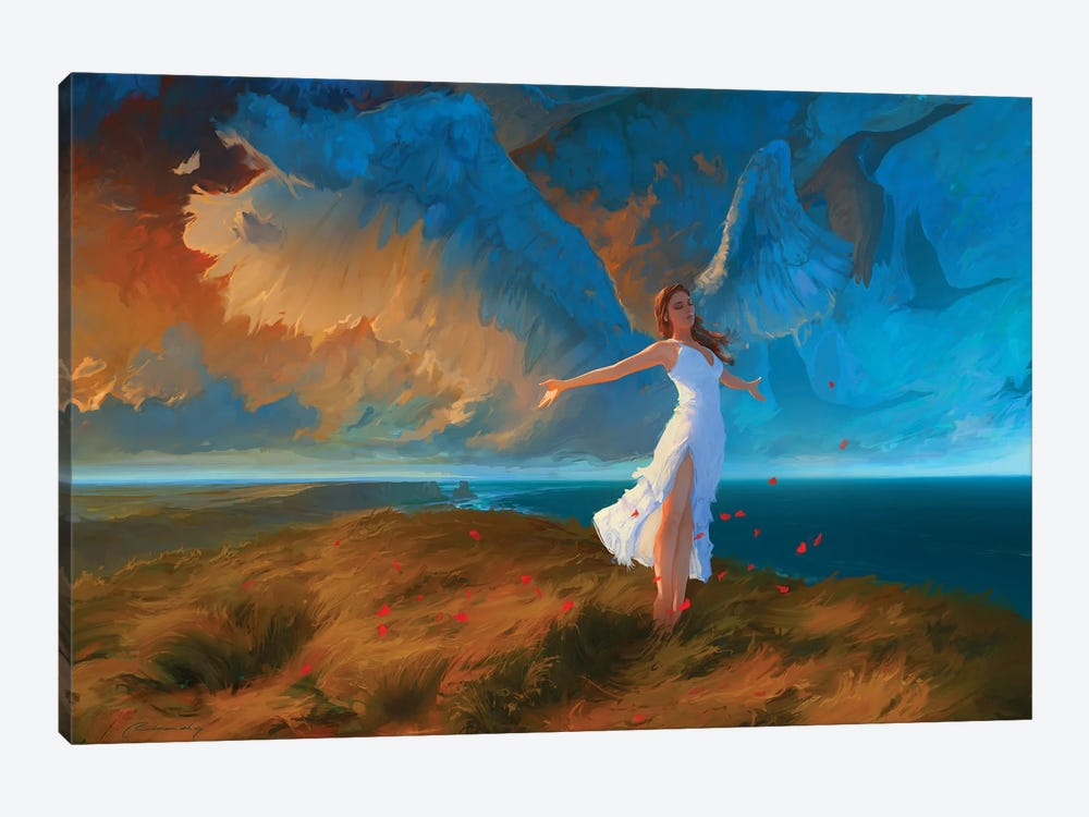 Learning To Fly by Artem Rhads Chebokha 1-piece Canvas Print
