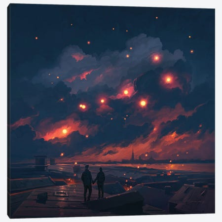 Magic Night Canvas Print #ACB22} by Artem Rhads Chebokha Art Print