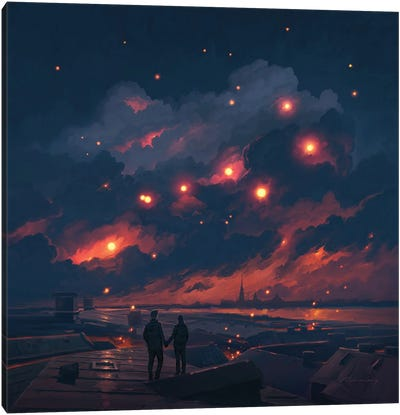Magic Night Canvas Art Print
