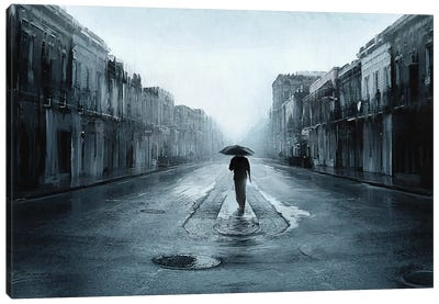 Rainy Day Canvas Art Print