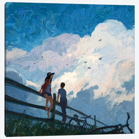 The Sky Song Canvas Print #ACB26} by Artem Rhads Chebokha Canvas Art