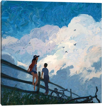 The Sky Song Canvas Art Print