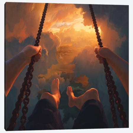 View From Above Canvas Print #ACB29} by Artem Rhads Chebokha Art Print