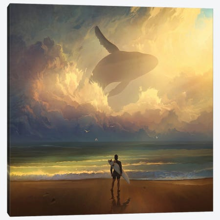 Waiting For The Wave Canvas Print #ACB30} by Artem Rhads Chebokha Canvas Artwork