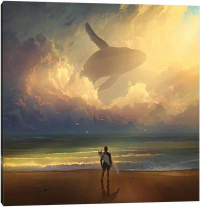 Waiting For The Wave Canvas Art Print