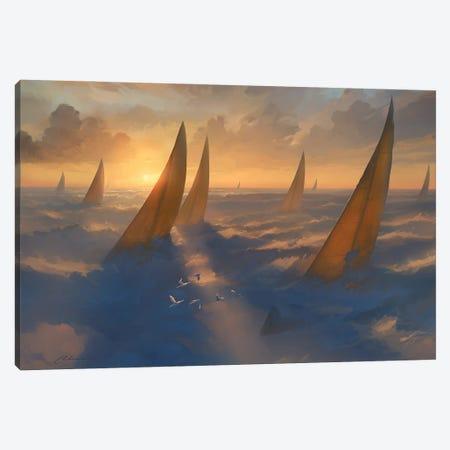 Cloud Regata Canvas Print #ACB6} by Artem Rhads Chebokha Canvas Wall Art