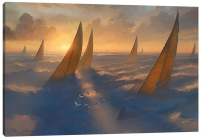 Cloud Regata Canvas Art Print
